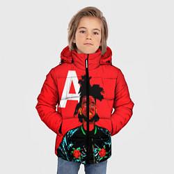 Куртка зимняя для мальчика TheWeeknd цвета 3D-черный — фото 2