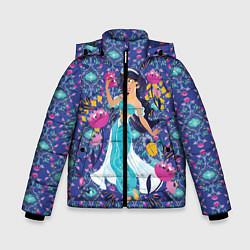 Куртка зимняя для мальчика Принцесса Жасмин цвета 3D-черный — фото 1