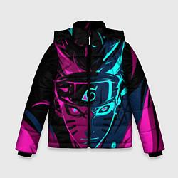 Куртка зимняя для мальчика Неоновый НАРУТО цвета 3D-черный — фото 1