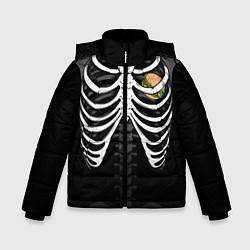Куртка зимняя для мальчика Бургер в груди цвета 3D-черный — фото 1