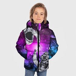 Куртка зимняя для мальчика Космонавт и водолаз цвета 3D-черный — фото 2