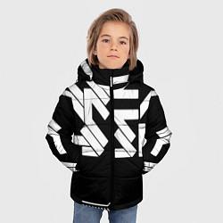 Куртка зимняя для мальчика КИБЕРПАНК СИМВОЛ цвета 3D-черный — фото 2