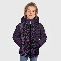 Детская зимняя куртка для мальчика с принтом Joy Division Glitch, цвет: 3D-черный, артикул: 10265920906063 — фото 2