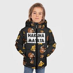 Куртка зимняя для мальчика Hakuna Matata цвета 3D-черный — фото 2