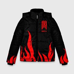 Куртка зимняя для мальчика Monsta X цвета 3D-черный — фото 1