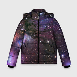 Куртка зимняя для мальчика Галактика S цвета 3D-черный — фото 1