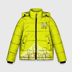 Куртка зимняя для мальчика Острые козырьки цвета 3D-черный — фото 1