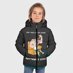 Куртка зимняя для мальчика Стенли Пайнс цвета 3D-черный — фото 2