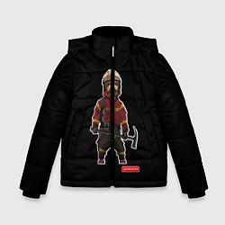 Куртка зимняя для мальчика Пожарное Делопожарный,черная цвета 3D-черный — фото 1