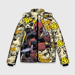 Детская зимняя куртка для мальчика с принтом Deadpool, цвет: 3D-черный, артикул: 10275016706063 — фото 1