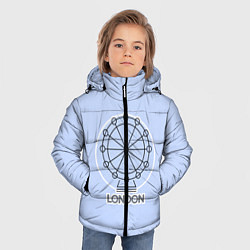 Куртка зимняя для мальчика Лондон London Eye цвета 3D-черный — фото 2