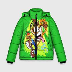 Куртка зимняя для мальчика CRASH BANDICOOT цвета 3D-черный — фото 1