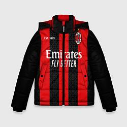Куртка зимняя для мальчика AC MILAN 2021 - ДОМАШНЯЯ цвета 3D-черный — фото 1