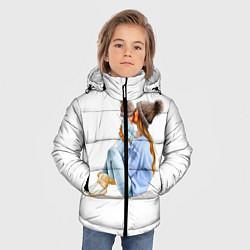Куртка зимняя для мальчика Самая лучшая мама цвета 3D-черный — фото 2