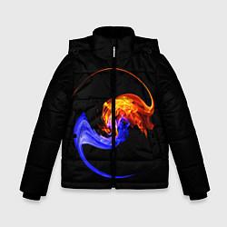 Куртка зимняя для мальчика Две стихии цвета 3D-черный — фото 1