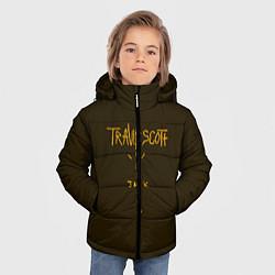 Куртка зимняя для мальчика Travis Scott LOGO цвета 3D-черный — фото 2