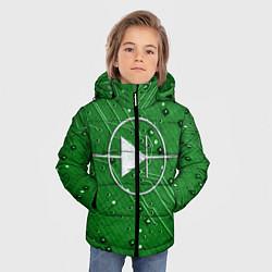 Куртка зимняя для мальчика Печатная плата и диод цвета 3D-черный — фото 2