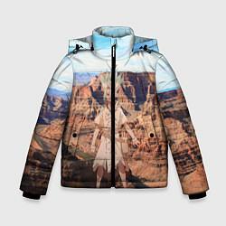 Куртка зимняя для мальчика Доктор Стоун цвета 3D-черный — фото 1