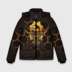 Куртка зимняя для мальчика Gears tactics цвета 3D-черный — фото 1