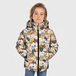 Куртка зимняя для мальчика Котики муркотики цвета 3D-черный — фото 2