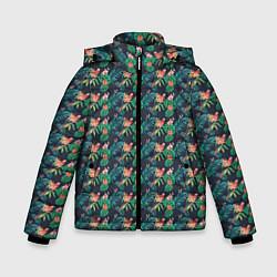 Куртка зимняя для мальчика Прекрасный Ара цвета 3D-черный — фото 1