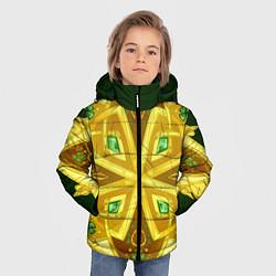 Куртка зимняя для мальчика Золотой клевер цвета 3D-черный — фото 2