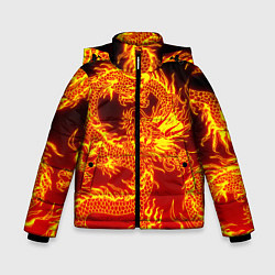 Куртка зимняя для мальчика ДРАКОН цвета 3D-черный — фото 1