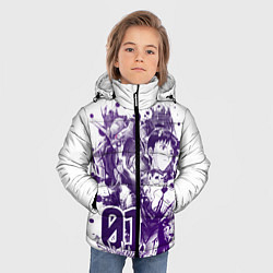 Куртка зимняя для мальчика Евангелион, EVA 01 цвета 3D-черный — фото 2