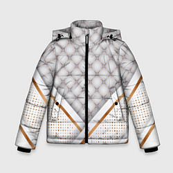 Куртка зимняя для мальчика Luxury white & Gold цвета 3D-черный — фото 1