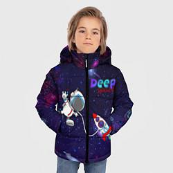 Куртка зимняя для мальчика Deep Space Cartoon цвета 3D-черный — фото 2
