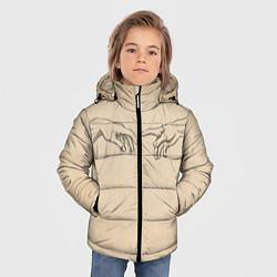 Куртка зимняя для мальчика Сотворение Адама Гранж цвета 3D-черный — фото 2