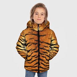 Куртка зимняя для мальчика Шкура Тигра цвета 3D-черный — фото 2