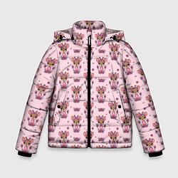 Куртка зимняя для мальчика Милая олениха цвета 3D-черный — фото 1