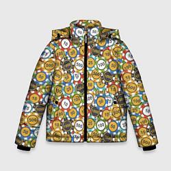 Куртка зимняя для мальчика Покерные Фишки цвета 3D-черный — фото 1