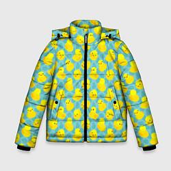 Куртка зимняя для мальчика Уточка цвета 3D-черный — фото 1