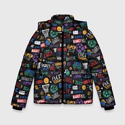 Куртка зимняя для мальчика Баскетбол цвета 3D-черный — фото 1