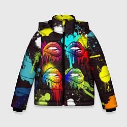 Куртка зимняя для мальчика Красочные кубы цвета 3D-черный — фото 1