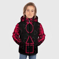 Куртка зимняя для мальчика Игра в кальмара: Игра началась цвета 3D-черный — фото 2
