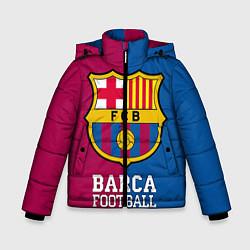 Детская зимняя куртка для мальчика с принтом Barca Football, цвет: 3D-черный, артикул: 10063905806063 — фото 1