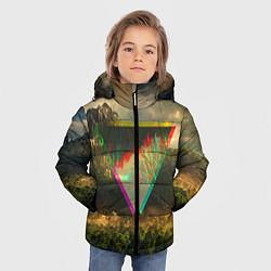 Детская зимняя куртка для мальчика с принтом 30 seconds to mars, цвет: 3D-черный, артикул: 10063910306063 — фото 2