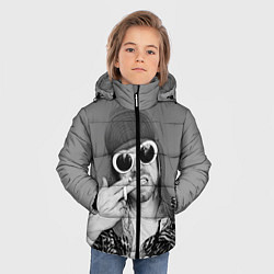 Куртка зимняя для мальчика Кобейн в очках - фото 2
