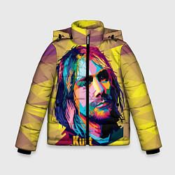 Куртка зимняя для мальчика Kurt Cobain: Abstraction цвета 3D-черный — фото 1