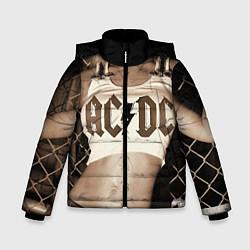 Куртка зимняя для мальчика AC/DC Girl цвета 3D-черный — фото 1
