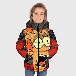 Куртка зимняя для мальчика Frai Horrified цвета 3D-черный — фото 2