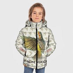 Детская зимняя куртка для мальчика с принтом Imagine Dragons: Fly, цвет: 3D-черный, артикул: 10064383406063 — фото 2