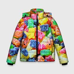 Куртка зимняя для мальчика Мармеладные мишки цвета 3D-черный — фото 1