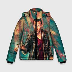 Детская зимняя куртка для мальчика с принтом Доктор кто, цвет: 3D-черный, артикул: 10065374006063 — фото 1