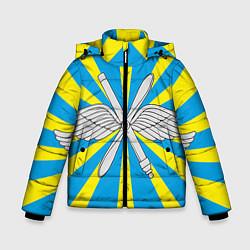 Куртка зимняя для мальчика Флаг ВВС цвета 3D-черный — фото 1