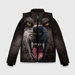 Куртка зимняя для мальчика Волчий рык цвета 3D-черный — фото 1