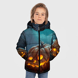 Куртка зимняя для мальчика Тыква цвета 3D-черный — фото 2
